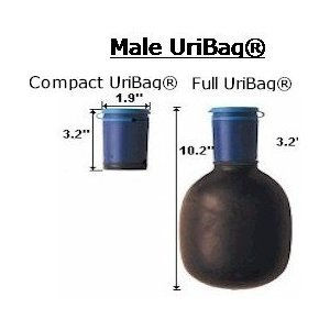 Heavy Duty Foldaway Urinal: Men's Compact Portable Bathroom Assistance by Kinsman Enterprises Inc