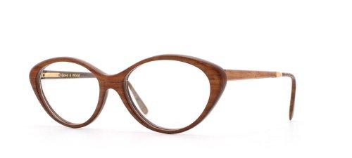 Gold & Wood TI.654 23 Brown Authentic Women Vintage Eyeglasses - Ti Brand Glasses