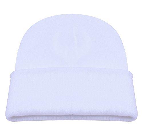 PZLE Mens Winter Hat White Beanie Skull Hat Beanie Cap Men Hats Men Beanie White ...