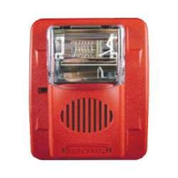 - Gentex GES3-24WR 24VDC Selectable Candela Low Profile Evacuation Strobe - Red Faceplate
