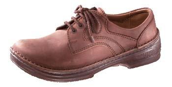 Footprints Derby - Zapatos de cordones de cuero para mujer Cacao-Antik