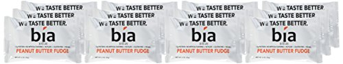 Bia Bar | Gluten Free High Protein Fudge Bar | Meal Replacement Protein Bar | Naturally Sweetened with Honey | NON GMO, 15g of Protein & No Artificial Flavoring (Peanut Butter Fudge)