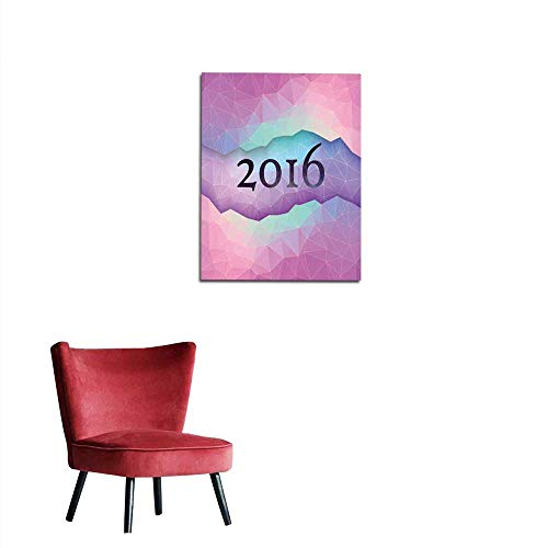 longbuyer Photographic Wallpaper New Year Greeting Card Made in Polygonal Style Mural 32