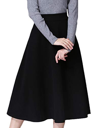 Laine Saisons Pleine Cercle Jupe Jupe Femme Jupe Hiver Vintage Jupe Maxi Scothen balancez lgante Jupe Kaki Longueur Jupe Hiver Longues Haute cossaise Jupe Automne Taille plisse plisse wTgIfqC