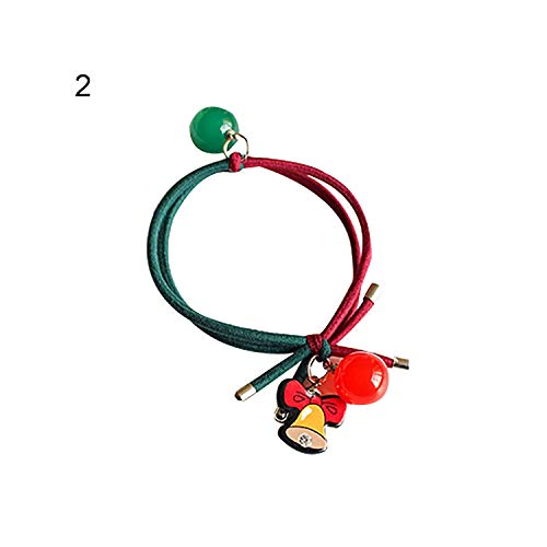 Christmas Santa Tree Elk Double Rubber Band Head Rope Hair Ring Ponytail ()