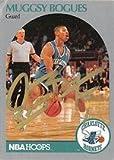 Autograph Warehouse 291516 1990 Hoops Muggsy Bogues Autographed No.50 Basketball Card - Charlotte Hornets