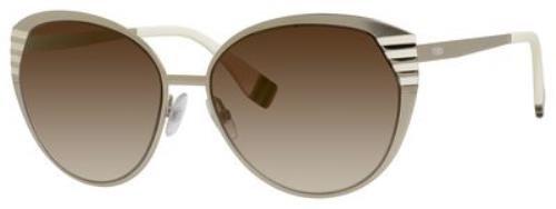 FENDI Sunglasses 0017/S 07Sg Gold Ivory Brown 58MM