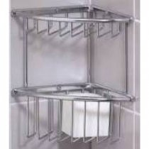 (Valsan 53424CR Essentials Corner 2 Wire Soap Basket - Large in Chrome)