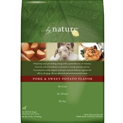 By Nature Natural Pork Dry Dog Food 6lb, My Pet Supplies