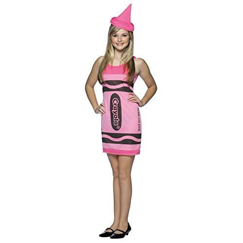 Crayola Crayon Tank - Crayola Crayon Tank Dress Teen/Junior Costume Tickle Me Pink - Teen