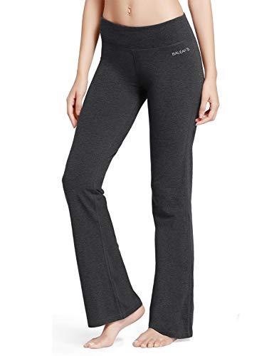 baleaf Womens Yoga Bootleg Pants Inner Pocket Charcoal Size S