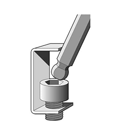 EKLIND 13211 Ball-Hex-L Key allen wrench - 11pc set SAE Inch Sizes .050-1/4 Long series