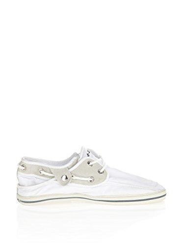 Nat-2 Sneaker Slipper Schuhe Skip 3 in 1 weiß Schnürer flach Textil