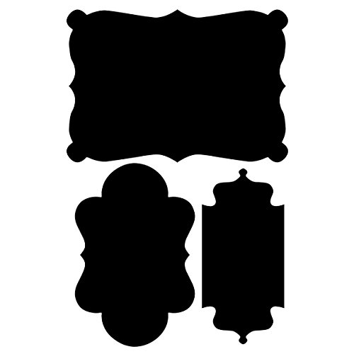 Wallies Peel and Stick Black Chalkboard Shapes Wall Decal, Set of 3