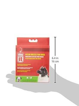 Dogit Nylon Dog Muzzle Black Medium//5-1//2-Inch