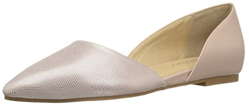 CL by Chinese Laundry Women's Hearty Pointed Toe Flat, Rose Gold Lizard, 7 M US