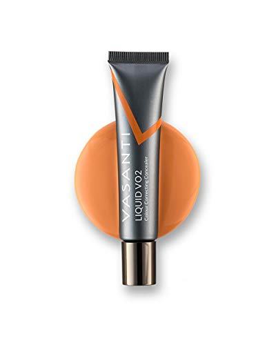 Liquid VO2 Undereye Color Corrector and Concealer by VASANTI  Medium to Deep Skin Tones  Paraben Free Gluten Free  Look Younger with this Dark Circle Concealer