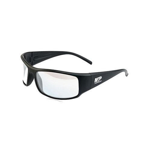 Shooting Eye Protection - Smith & Wesson Accessories Thunderbolt Full Frame Shooting Glasses Matte Black with Clear Mirror Lenses