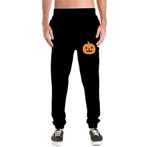 Mens Sweatpants - Casual Gym Workout Halloween Pumpkin Track Pants Comfortable Slim Fit Sweatpants Pockets]()