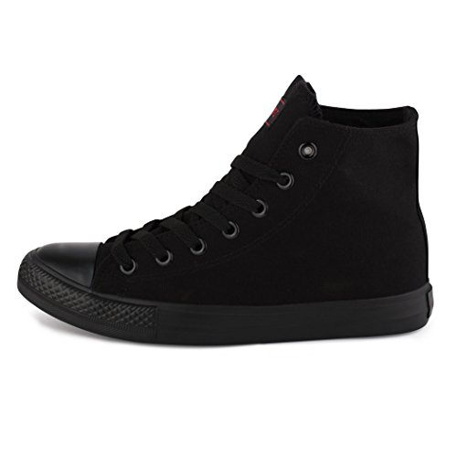 Women's Sneakers ALLBlack Black best boots Top Men's High 5ZtwSwq