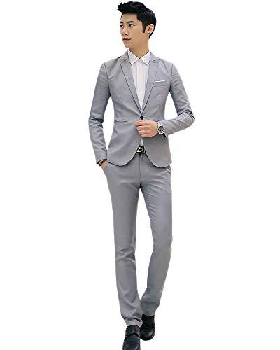 Cappotti Pantaloni Slim Manica Set Blazer Pezzi Grigio Uomo Camicia Classico Inverno Fit Kindoyo Lunga 3 Autunno qv8Btx