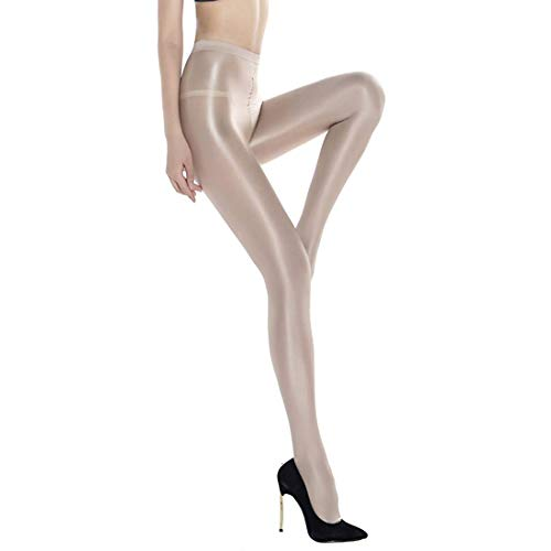 Women's Sheer sexy reflective Shiny Silk Pantyhose 70D flash oil bright shaping Stockings tights