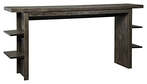 Signature Design by Ashley D639-33 Long Counter Table, Dark Gray (Table Breakfast Counter)