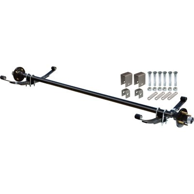 Ultra-Tow 2000-Lb. Capacity Complete Axle Kit - 60in. Hubface, 48in. Spring Center, 4-Bolt Pattern, 4in. Hubs
