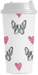 Francese Bulldog cani cani testa di cane carino cane turchese carino viso cane migliore borsa termica pranzo per donna//uomo scatola pranzo riutilizzabile