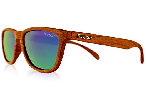 Affordable Polarized Sunglasses Wood Grain Brown Polarized Premiums Green ()