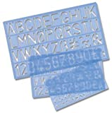 Helix Three Piece Stencil Set - Letters Numbers and Symbols (10mm 20mm 30mm)