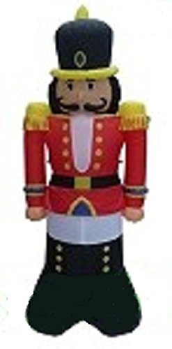 CHRISTMAS INFLATABLE 7' NUTCRACKER AIRBLOWN HOLIDAY YARD DECORATION