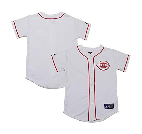 Cincinnati Reds Word Mark Blank White Youth Authentic Home Jersey (Large 14/16)