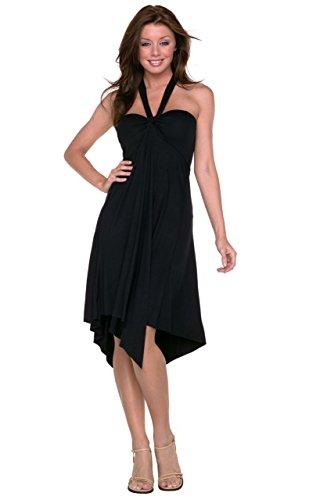Little Black Convertible Dress (Vivian's Fashions Dress/Skirt - Convertible, 6 Different Ways to Wear (Black))