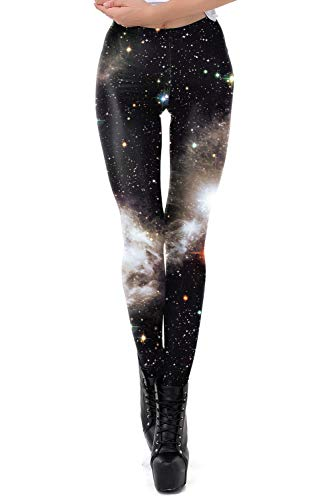 color cosplayer Women Galaxy Star Sky Printed High Waist Leggings Pants