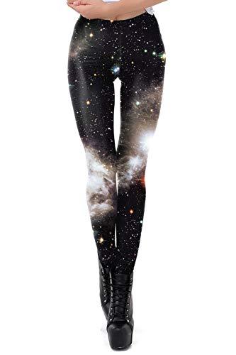 bf34870fd35b4 color cosplayer Women Galaxy Star Sky Printed High Waist Leggings Pants
