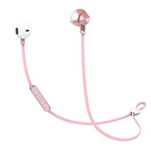 Bluetooth Earbuds, Mijiaer Wireless Headphones Sport Waterproof Earphones, in-Ear HiFi Headset Built-in Microphone (Rose Gold)