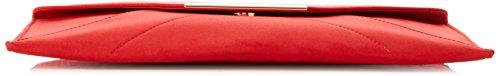 Dorothy Perkins Envelope Clutch - Borse a tracolla Donna, Red, 30x20x1 cm (W x H L)