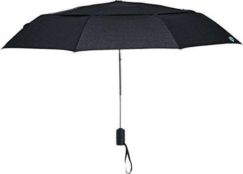 Coolibar UPF 50+ 42 Inch Sodalis Travel Umbrella - Sun Protective (One Size- Black)