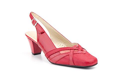 Conbuenpie by Jam - Zapato tacon piel mujer color Rojo