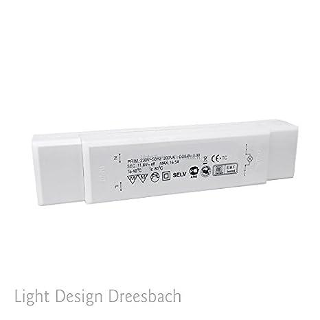 Conjunto de 10 transformador electrónico para luces LED bombilla diseño de barras y 230/12V 1-50W: Amazon.es: Iluminación