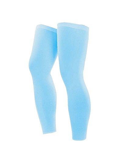 UVサンプロテクション通気性スポーツスリーブフルコンプレッションレッグスリーブ、青