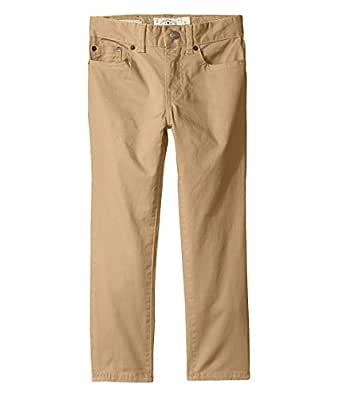 Lucky Brand Boys' Big Five Pocket Stretch Twill Pant, kelp, 10