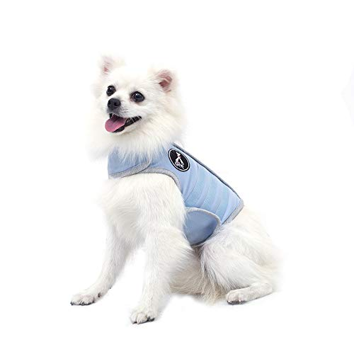 X@HE Comfort Dog Anxiety Relief Coat, Dog Anxiety Calming Vest Wrap,Thunder Shirts Jacket for XS Small Medium Large XL Dogs,Blue Grey,XS
