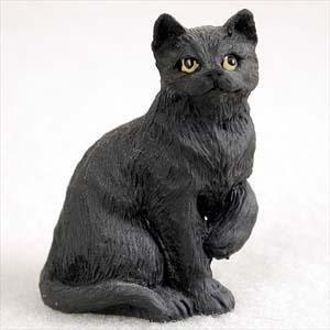 Shorthair, Black Tiny Ones Cat Figurines (2 in)