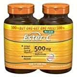 Ester-C 500 mg with Citrus Bioflavonoids 120+120 Free American Health Products 120+120 Caps For Sale
