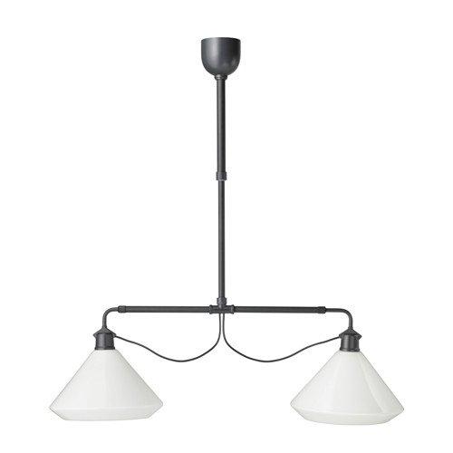 Pendant Childrens Glass Light (Ikea Pendant lamp-double, white)