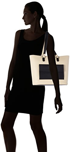 Tous Capazo Essence - Borse a spalla Donna, Varios colores (Arena/ Negro), 14x28x31 cm (W x H L)
