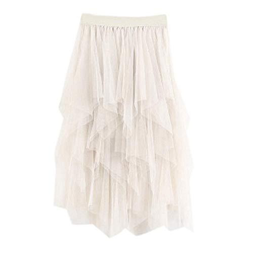 VJGOAL Moda Casual de Mujer Color sólido Imperio Tulle Cake Falda ...