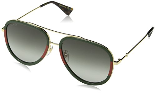 Gucci Women GG0062S 57 Gold/Green Sunglasses 57mm
